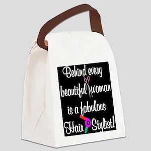 INSPIRING HAIR STYLIST Canvas Lunch Bag