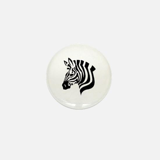 Zebra Head Mini Button