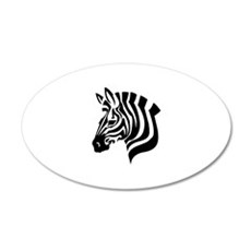 Zebra Head Wall Decal