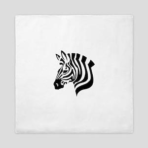 Zebra Head Queen Duvet