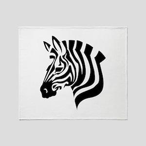 Zebra Head Throw Blanket
