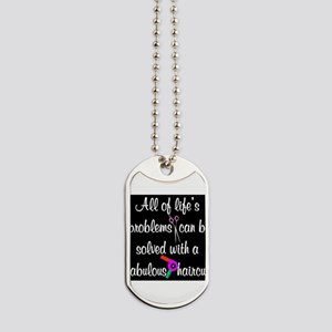 HAIR CUT QUOTE Dog Tags