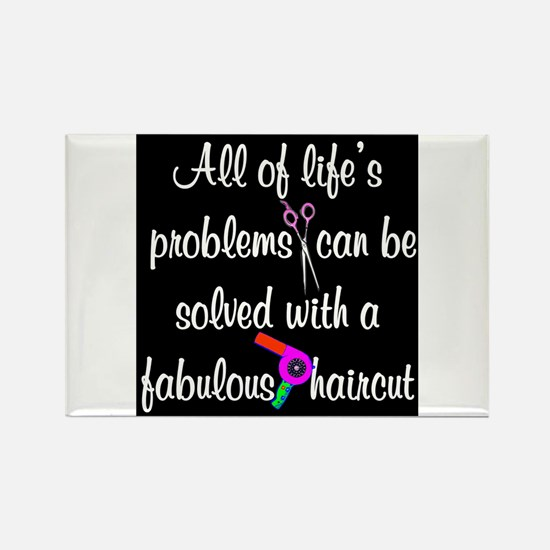 HAIR CUT QUOTE Rectangle Magnet