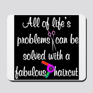 HAIR CUT QUOTE Mousepad