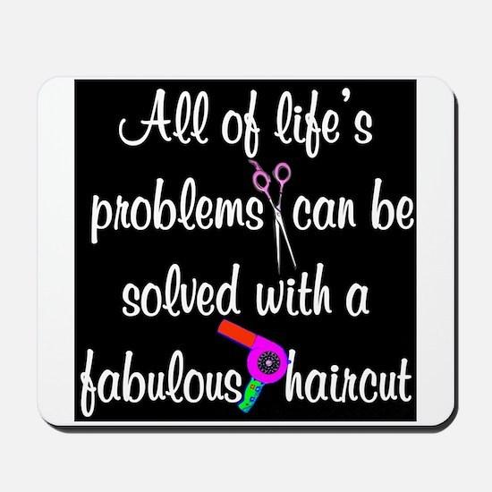 HAIR CUT QUOTE Mousepad