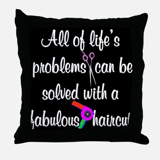 HAIR CUT QUOTE Throw Pillow