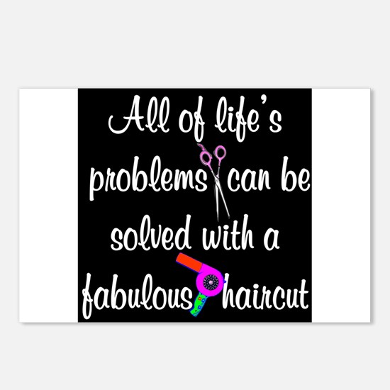 HAIR CUT QUOTE Postcards (Package of 8)