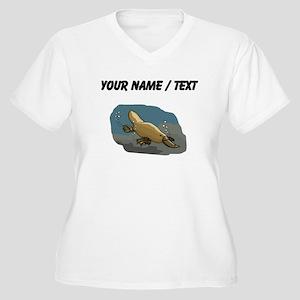 Custom Platypus Underwater Plus Size T-Shirt