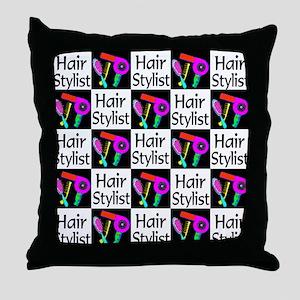 FABULOUS HAIR CUT Throw Pillow