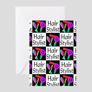 FABULOUS HAIR CUT Greeting Card