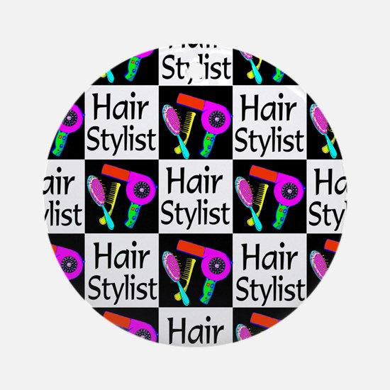 FABULOUS HAIR CUT Ornament (Round)