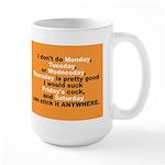 Days of the week large mug