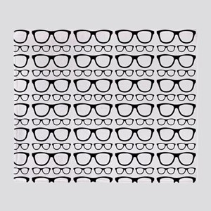 Cute Retro Eyeglass Hipster Throw Blanket