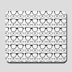 Cute Retro Eyeglass Hipster Mousepad