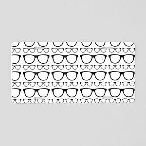 Cute Retro Eyeglass Hipster Aluminum License Plate