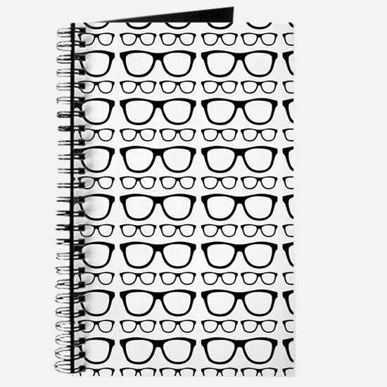 Cute Retro Eyeglass Hipster Journal