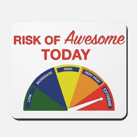 Risk of awesome today Mousepad