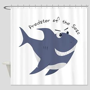 Predator Of The Seas Shower Curtain