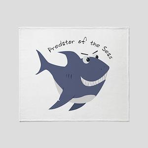 Predator Of The Seas Throw Blanket