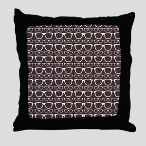 Cute Retro Eyeglass Hipster Throw Pillow
