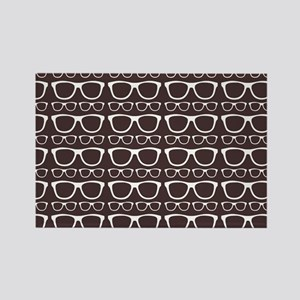 Cute Retro Eyeglass Hipster Rectangle Magnet