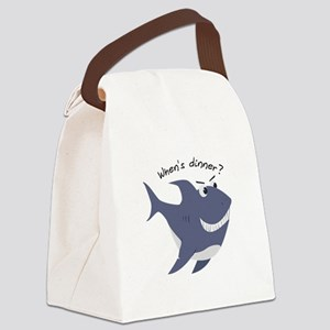 Whens Dinner? Canvas Lunch Bag