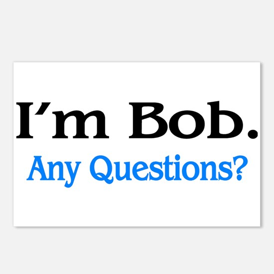 I'm Bob. Any Questions? Postcards (Package of 8)