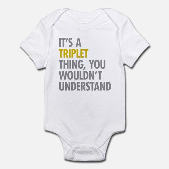 Triplets baby clothes cafepress its a triplet thing infant bodysuit negle Gallery