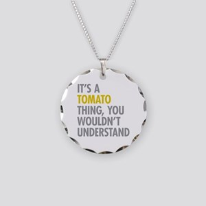 Its A Tomato Thing Necklace Circle Charm