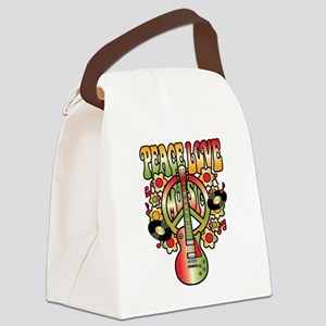 Peace Love Music Canvas Lunch Bag