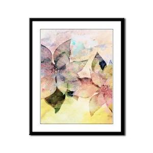 Pastel Pointsettias Framed Panel Print