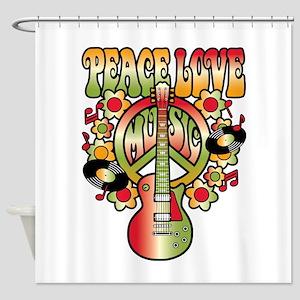 Peace Love Music Shower Curtain