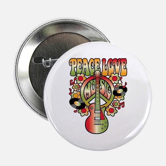 "Peace Love Music 2.25"" Button"