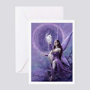 fairy and griffin Greeting Cards