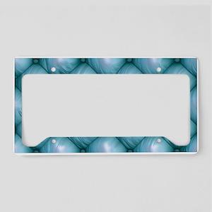 Lounge Leather - Blue License Plate Holder