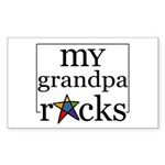 My Grandpa Rocks Rectangle Sticker