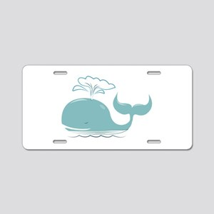 Spouting Whale Aluminum License Plate