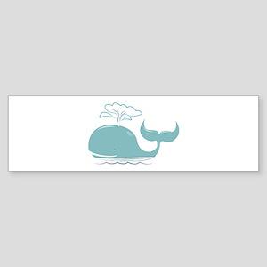 Spouting Whale Bumper Sticker