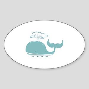 Spouting Whale Sticker