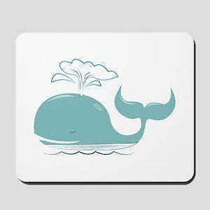 Spouting Whale Mousepad
