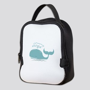 Spouting Whale Neoprene Lunch Bag
