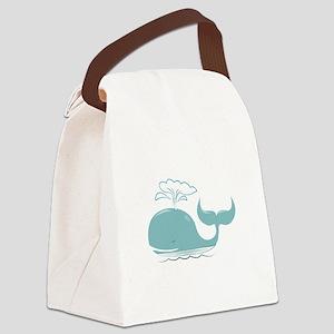 Spouting Whale Canvas Lunch Bag