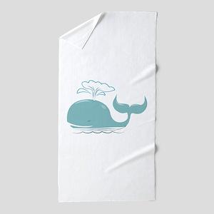 Spouting Whale Beach Towel
