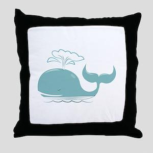 Spouting Whale Throw Pillow