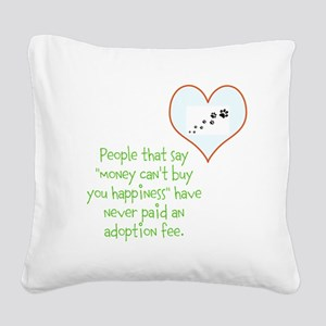 adoption happiness Square Canvas Pillow
