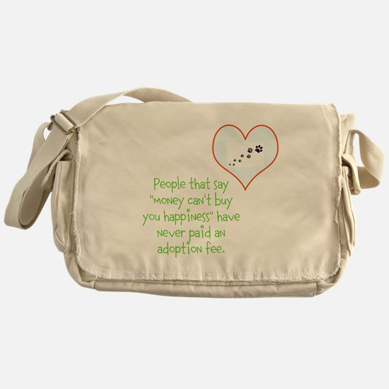 adoption happiness Messenger Bag