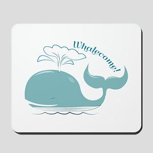 Whalecome! Mousepad