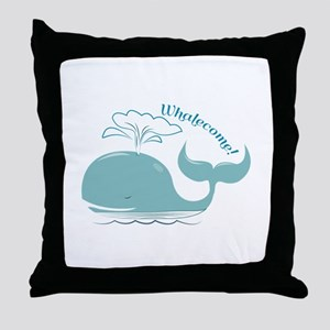 Whalecome! Throw Pillow