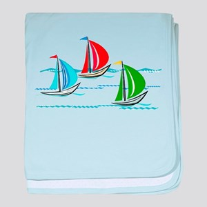 Three Yachts Racing baby blanket