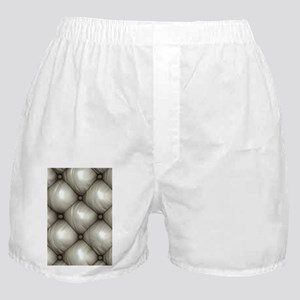 Lounge Leather - White Boxer Shorts